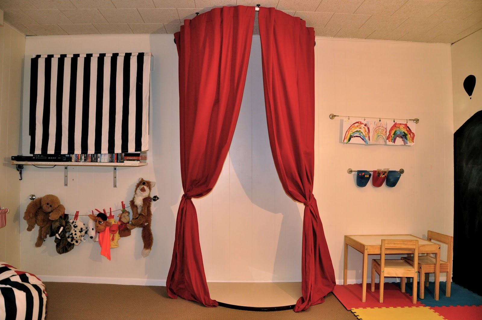 Image of: Kid Bedroom Curtain Red