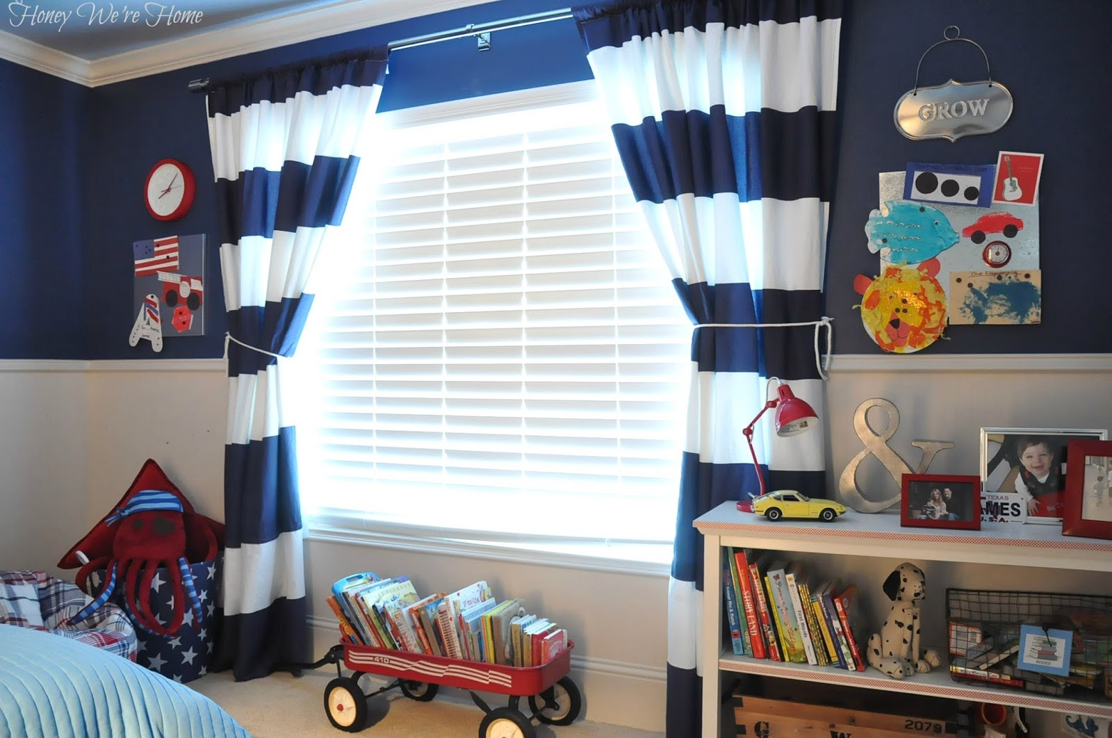 Image of: Kid Bedroom Curtain Sea
