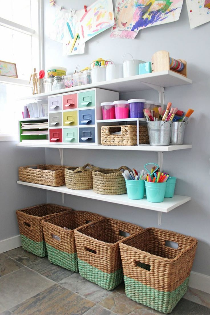 Image of: Kids Art Supply Storage Ideas