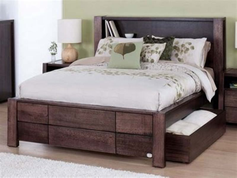 Image of: King Size Bed Frame With Storage