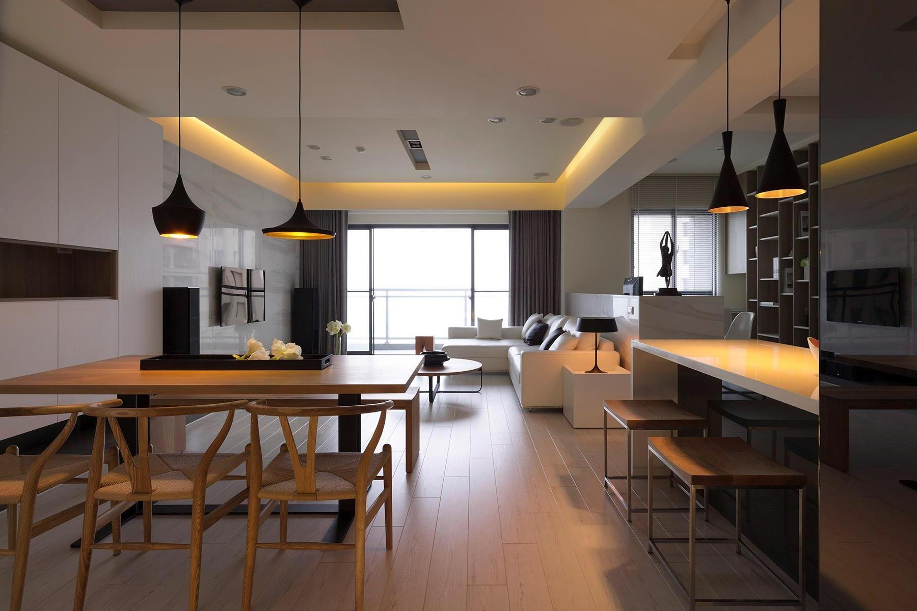 Image of: Kitchen Living Room Combo Simple