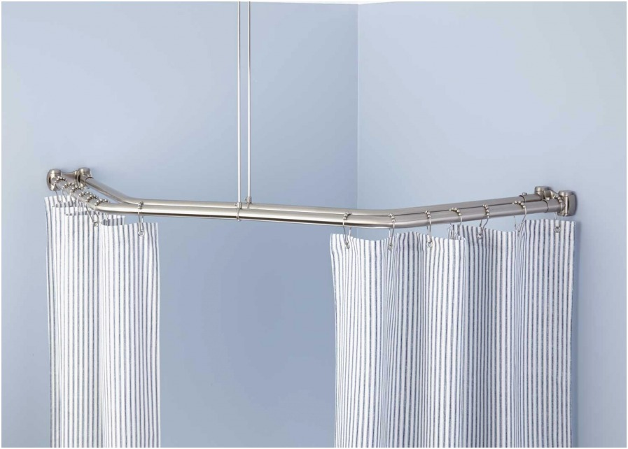 Image of: L Shaped Shower Curtain Rod Best
