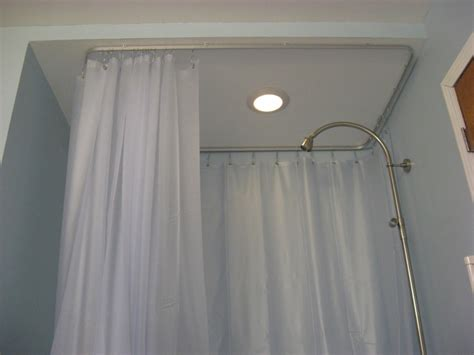 Image of: L Shaped Shower Curtain Rod Unique