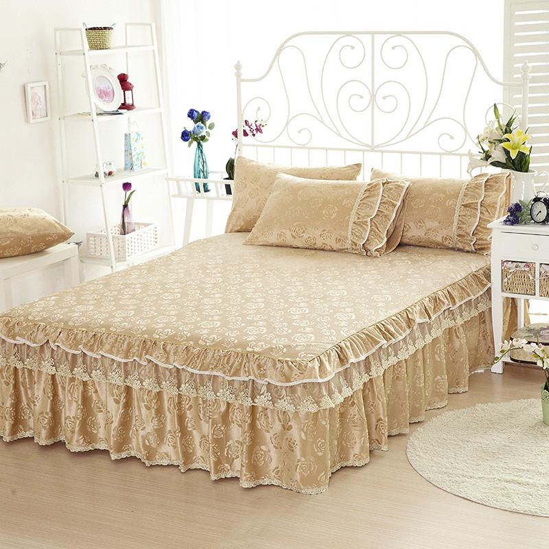 Image of: Lace Bed Skirt Style