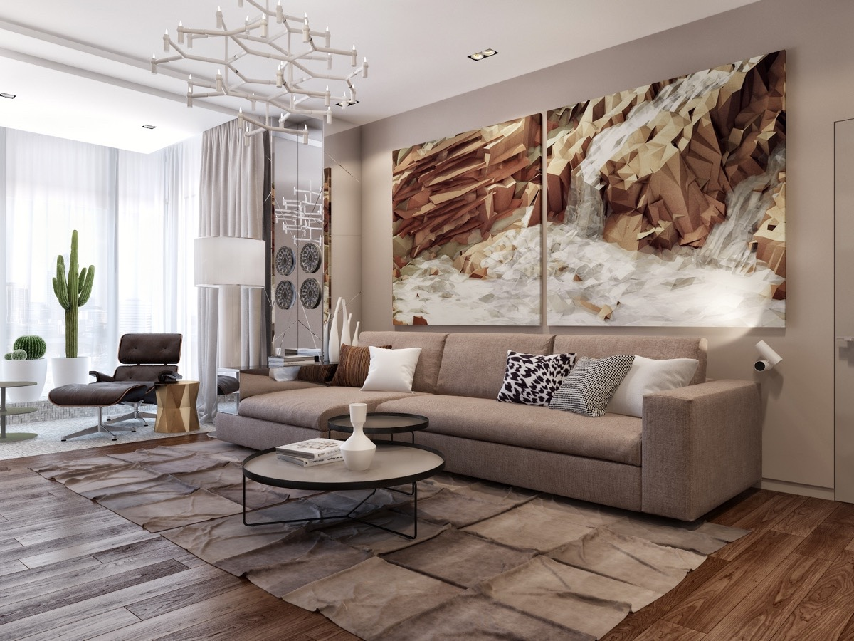 Image of: Large Wall Art for Living Room Decor