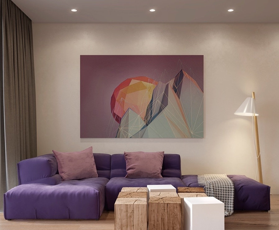 Image of: Large Wall Art for Living Room Geometric