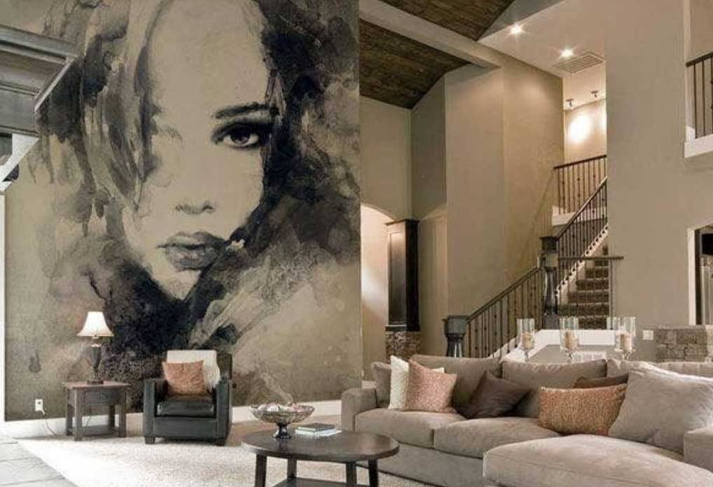 Image of: Large Wall Art for Living Room Mural