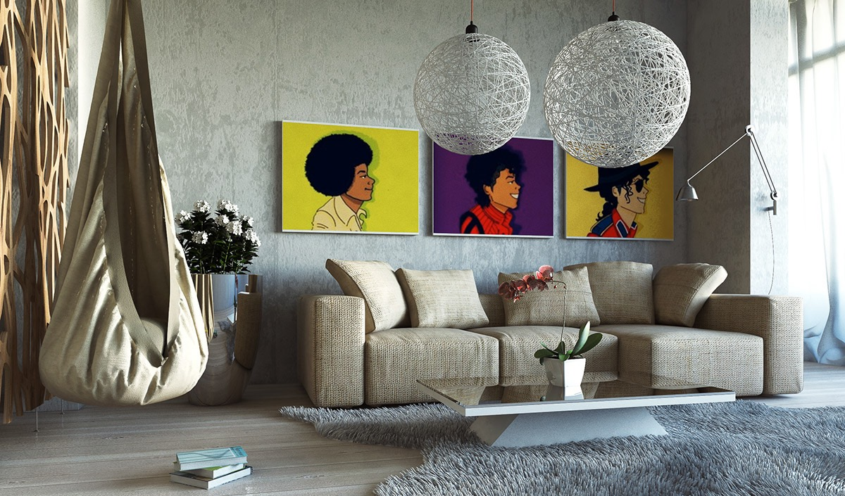 Image of: Large Wall Art for Living Room Music