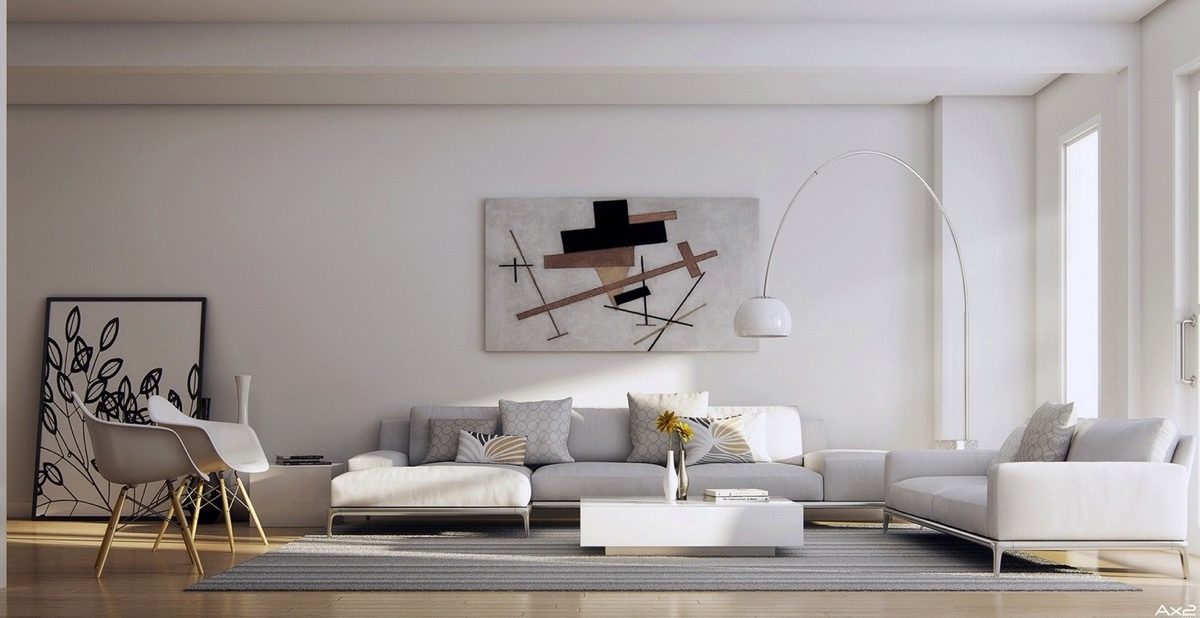 Image of: Large Wall Art for Living Room White