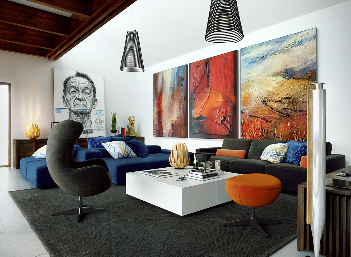 Image of: Large Wall Art for Living Room Work