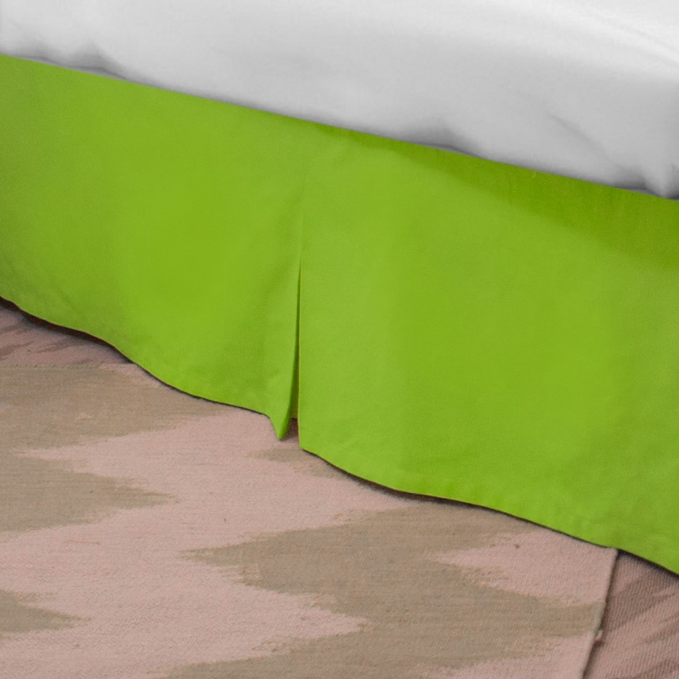 Image of: Lime Green Bed Skirt