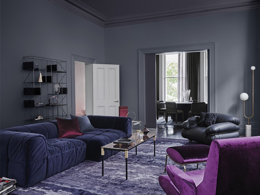 Image of: Living Room Colors 2018 Dark