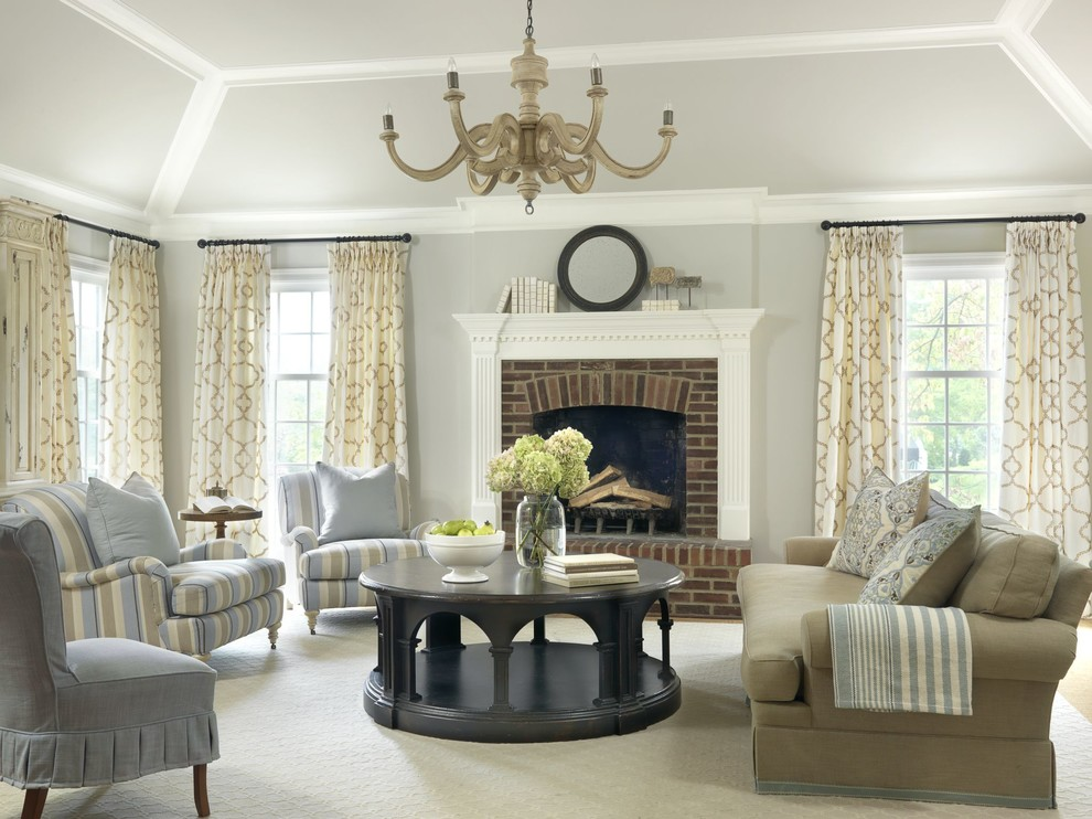 Image of: Living Room Curtains Beige