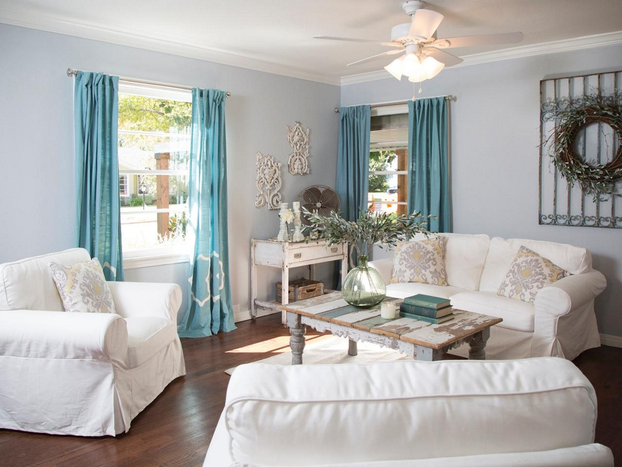 Image of: Living Room Curtains French