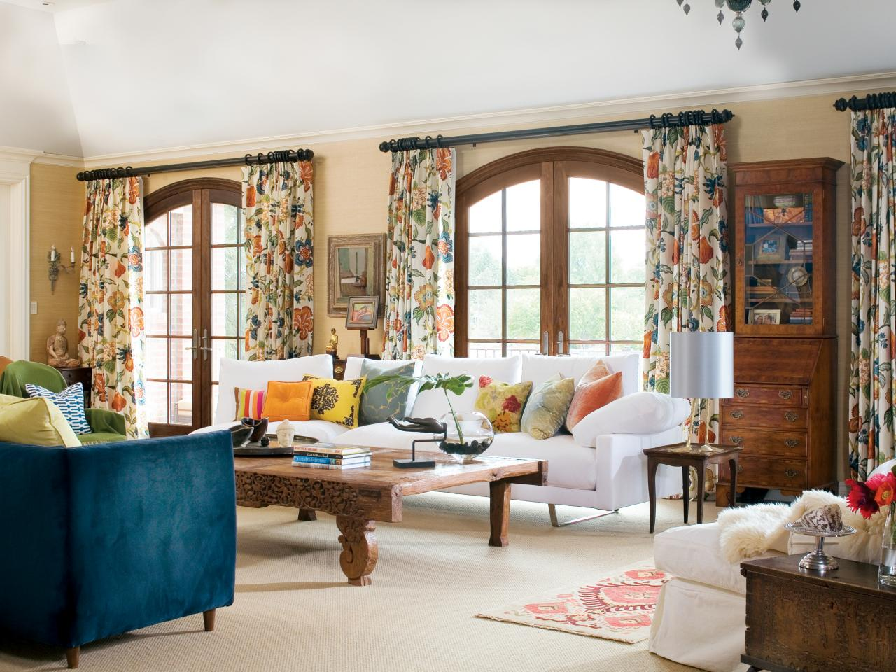 Image of: Living Room Curtains Interior