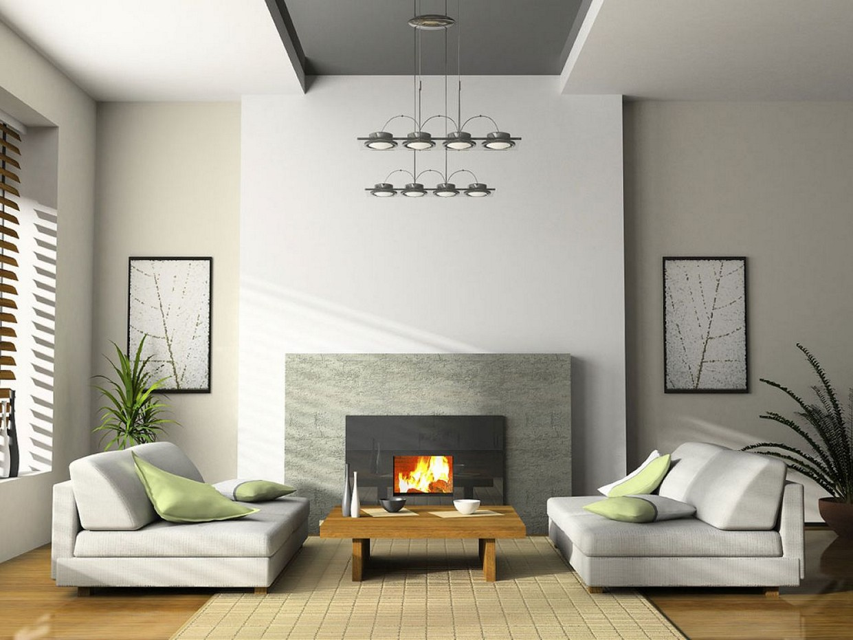 Image of: Living Room Fireplace Contemporary