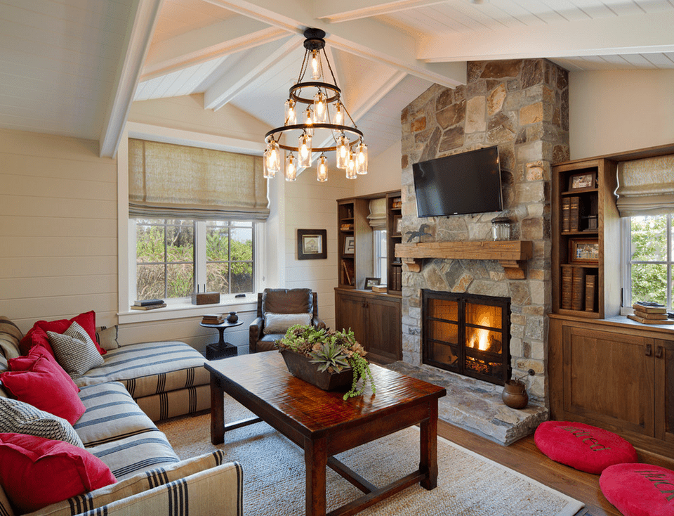 Living Room Fireplace Cottage
