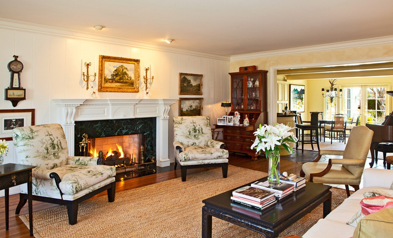 Image of: Living Room Fireplace Furniture