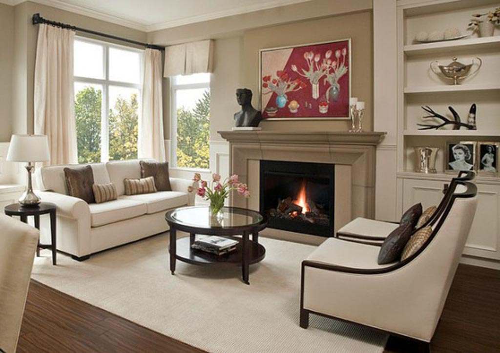 Image of: Living Room Fireplace Unique