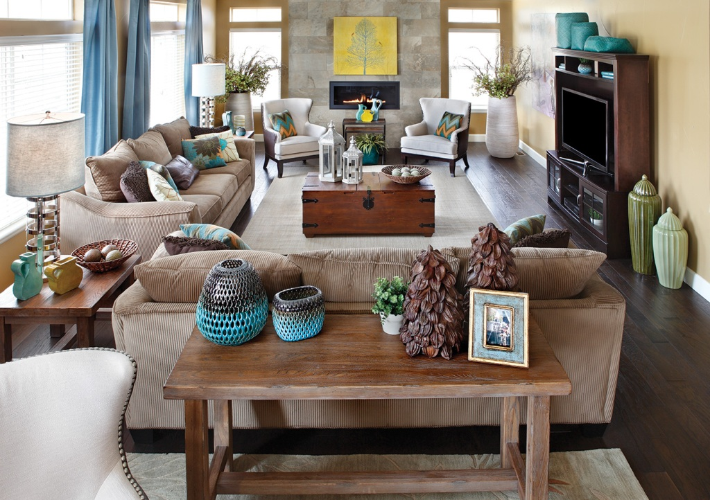 Image of: Living Room Furniture Arrangement TV