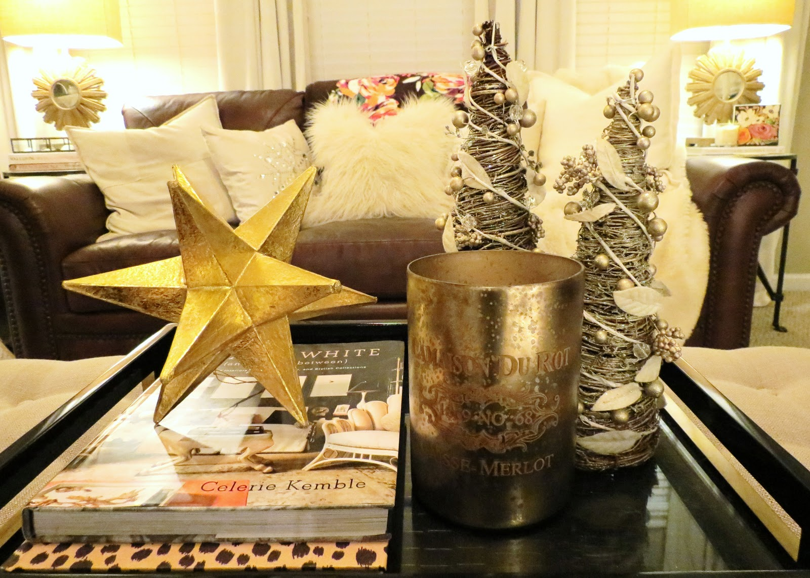 Image of: Living Room Table Centerpieces Star