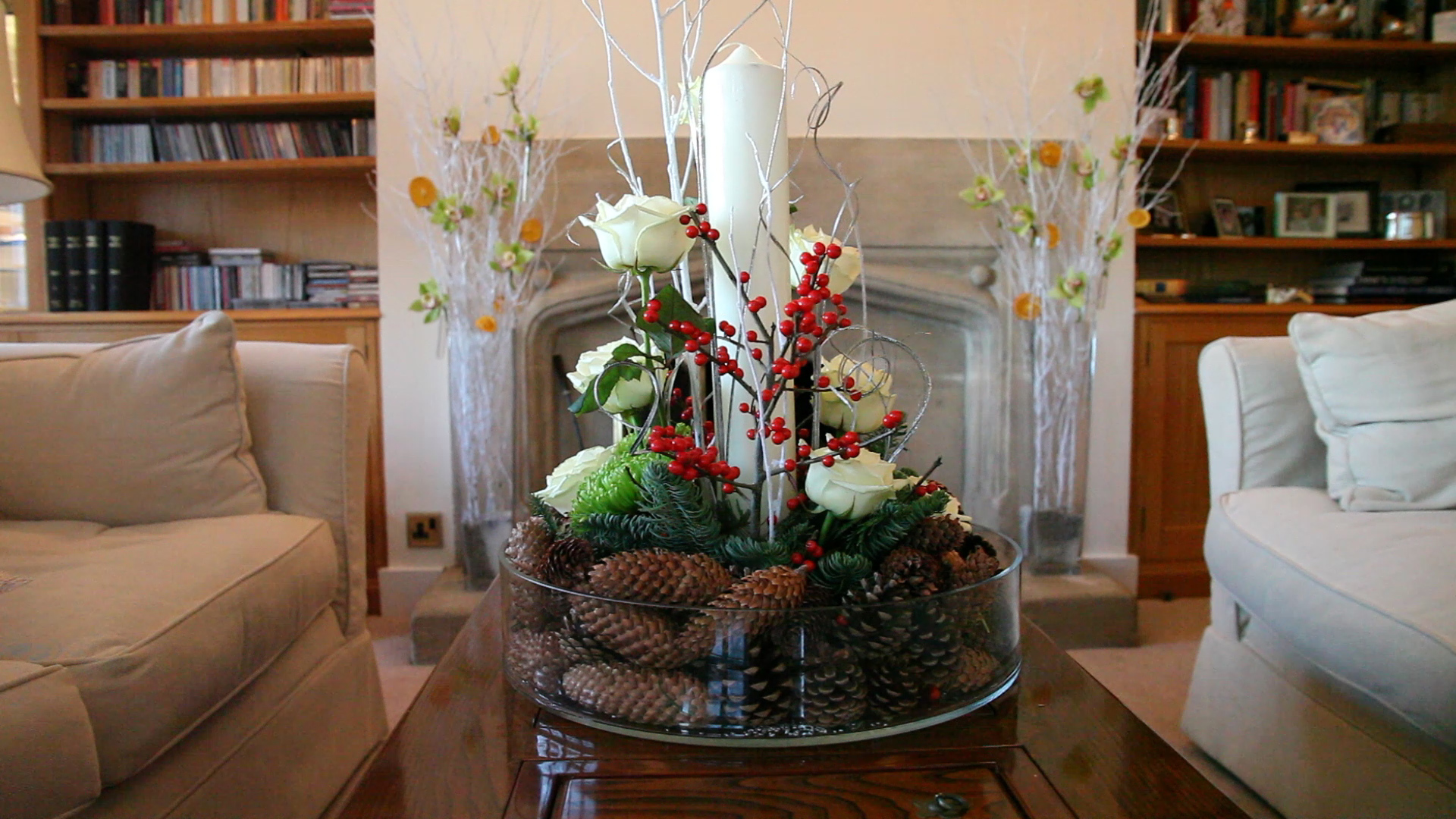Image of: Living Room Table Centerpieces Unique