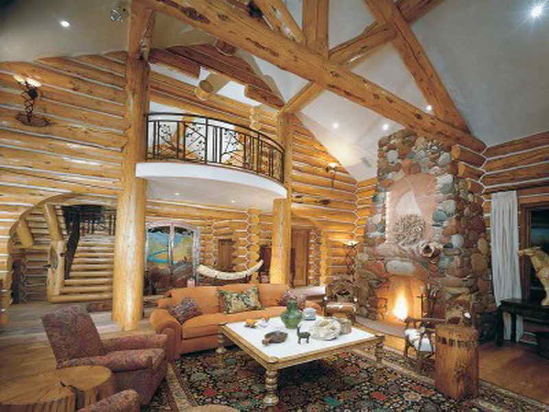 Image of: Log Cabin Living Room Fancy