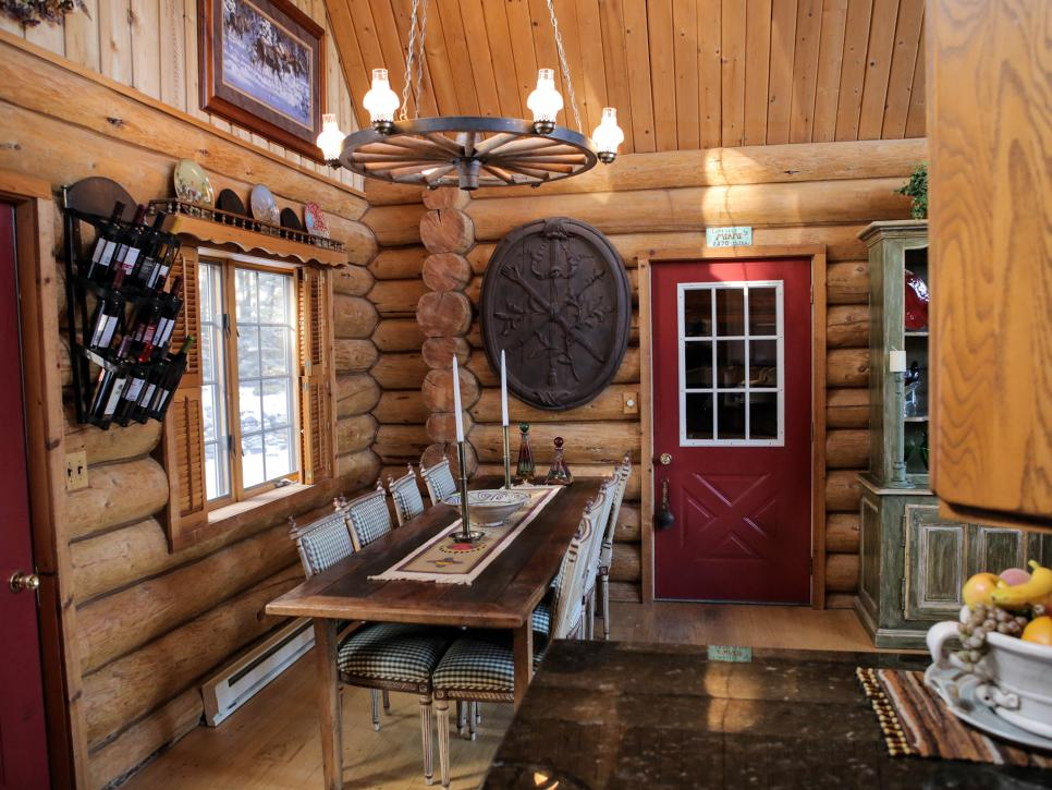 Image of: Log Cabin Living Room Modern