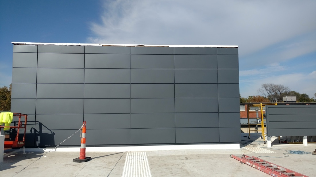Image of: Metal Wall Panels Building