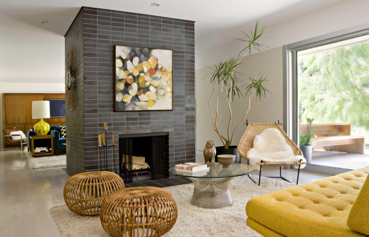 Image of: Mid Century Modern Living Room Ideas Square