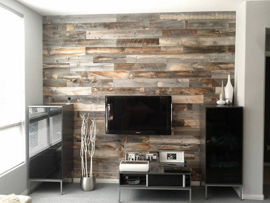 Image of: Minimalist Reclaimed Wood Wall Panels