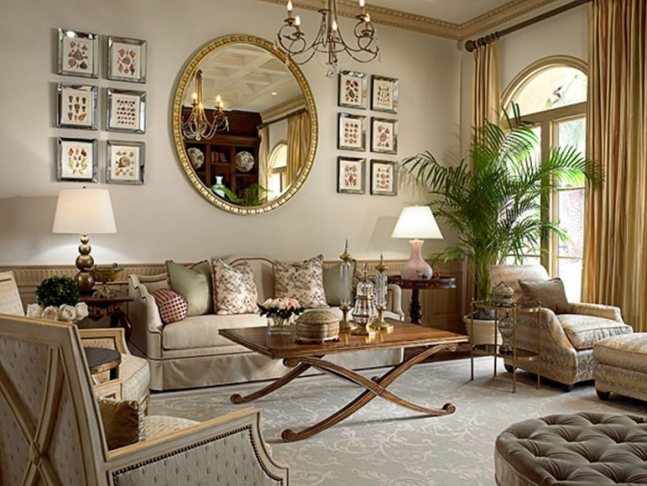 Image of: Mirror Tables for Living Room Large