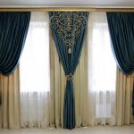 Modern Living Room Curtains Blue