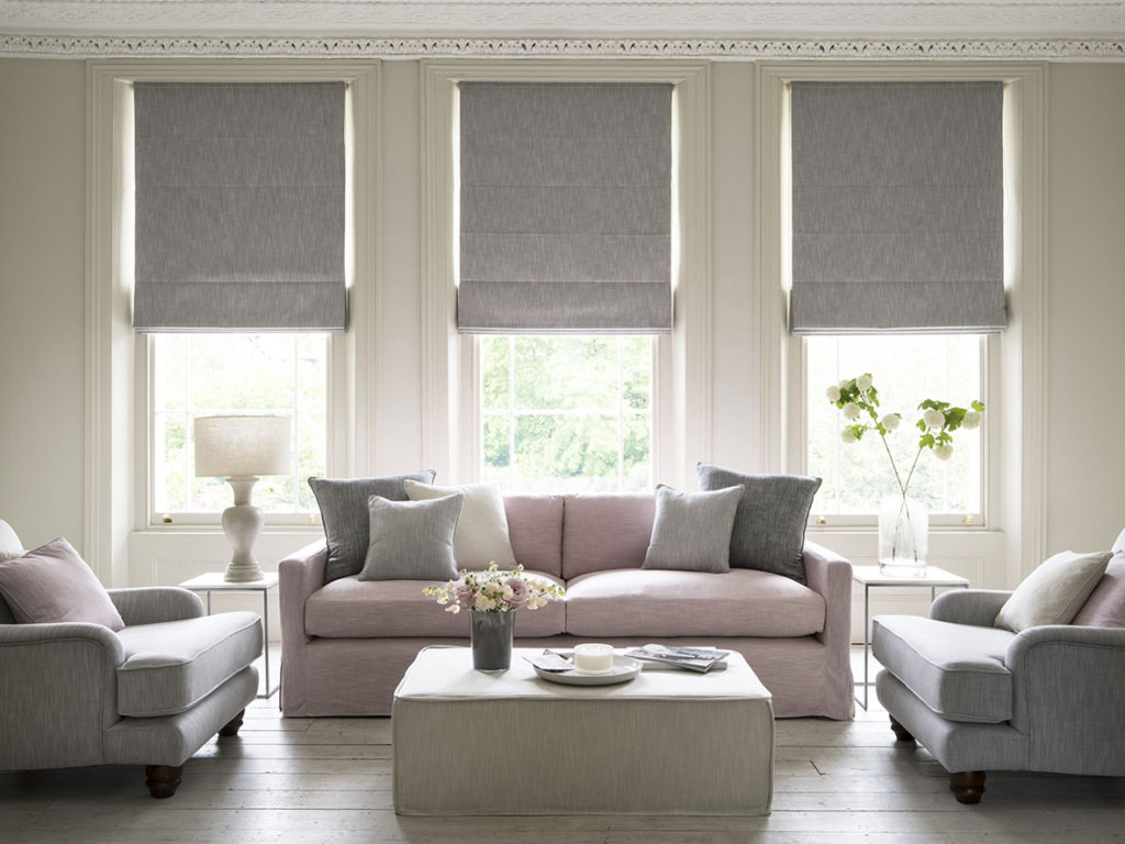 Image of: Modern Living Room Curtains Grey