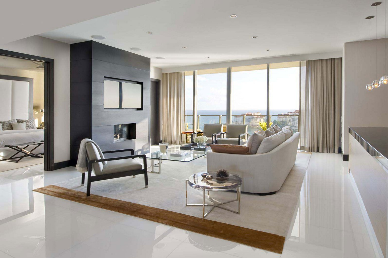 Image of: Modern Living Room Curtains Ideas
