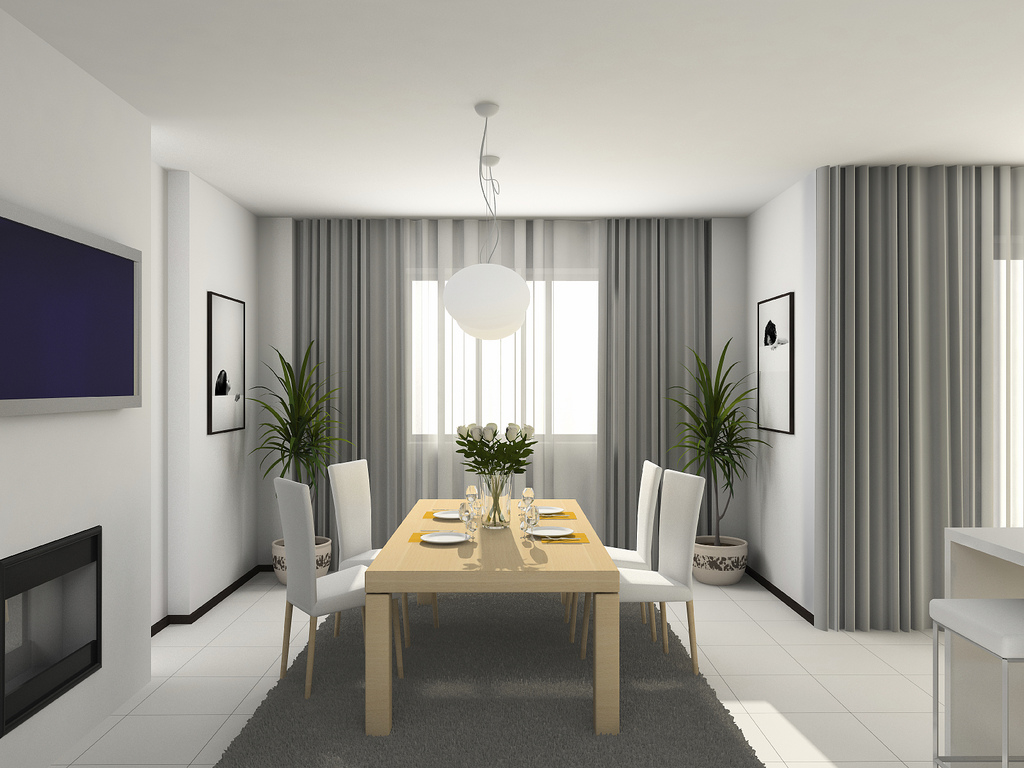 Image of: Modern Living Room Curtains White