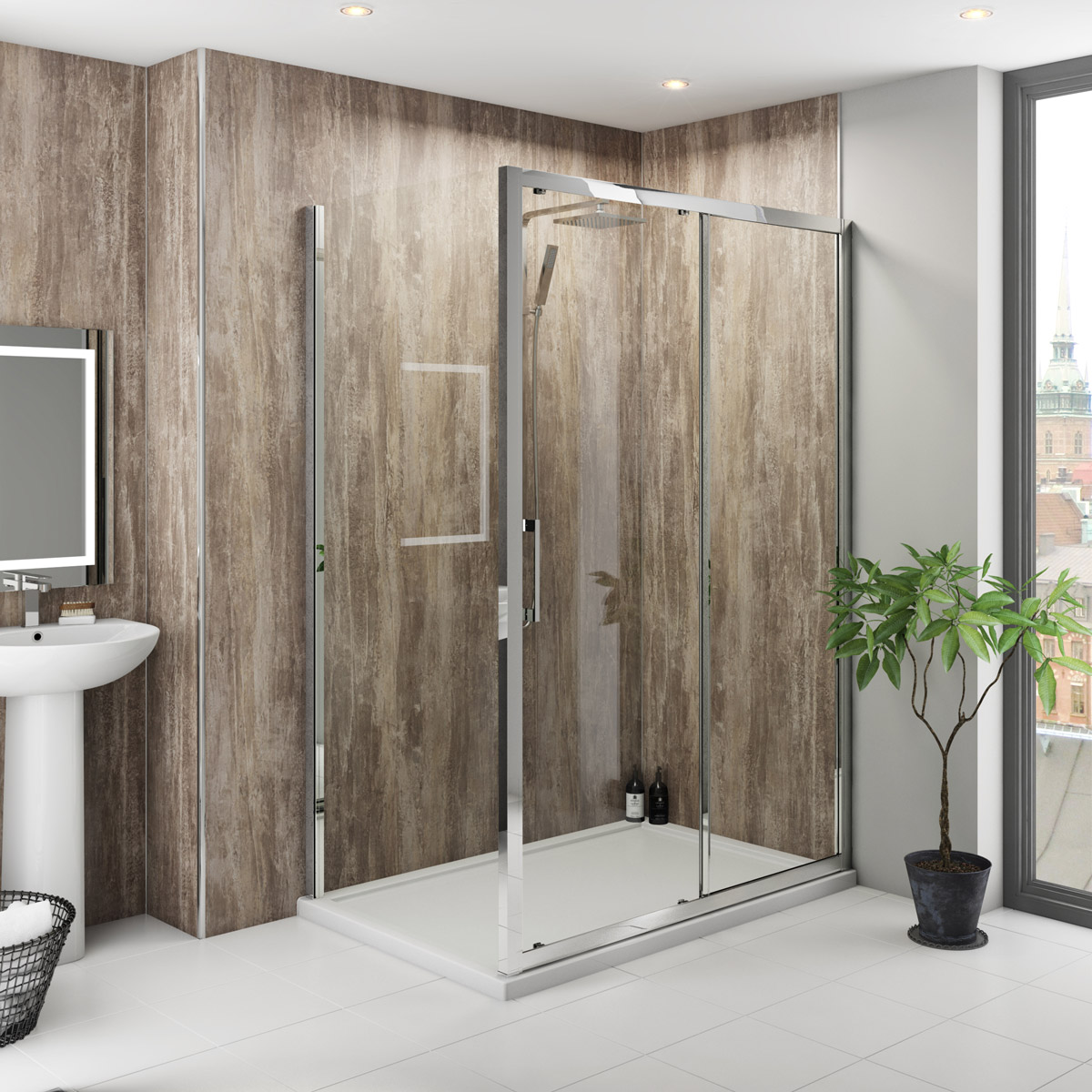 Image of: Modern Shower Wall Panels
