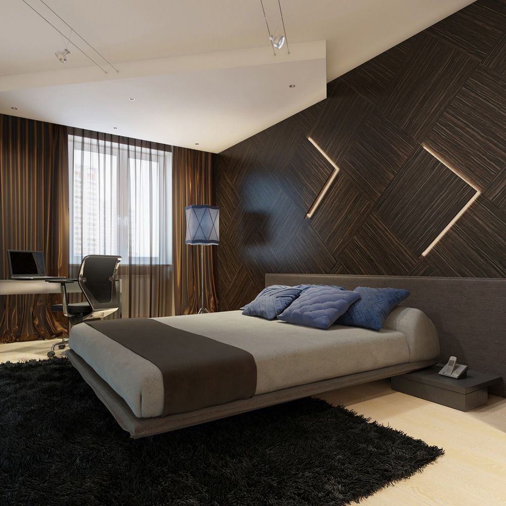 Image of: Modern Wall Panels for Bedroom