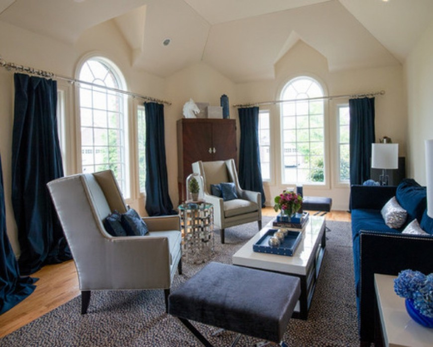 Image of: Navy Living Room Cheap