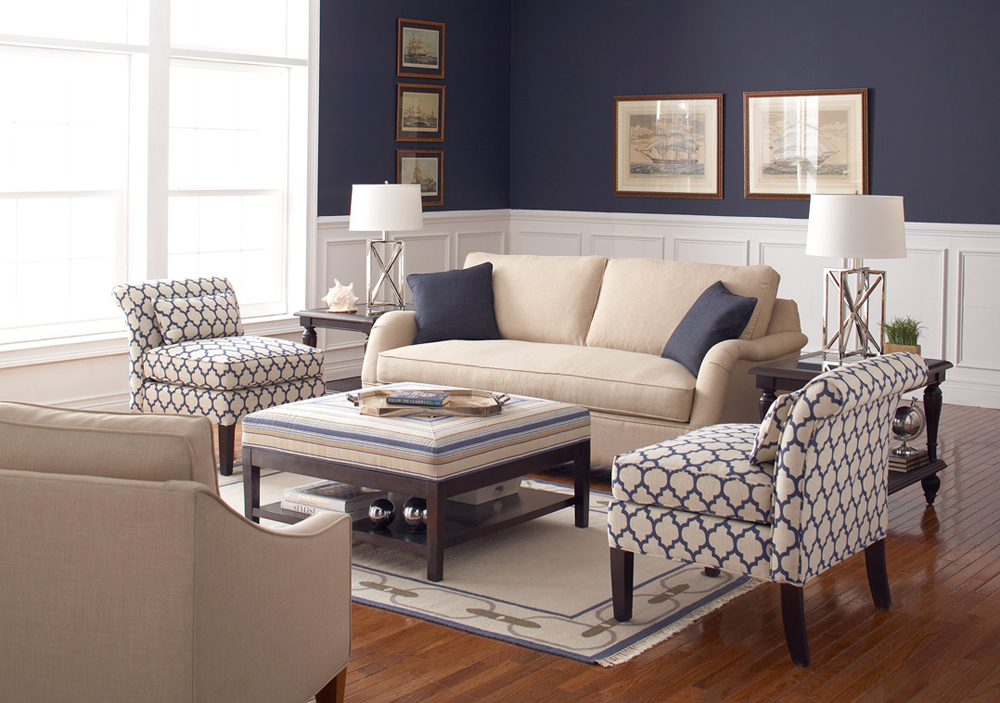 Image of: Navy Living Room Ideas