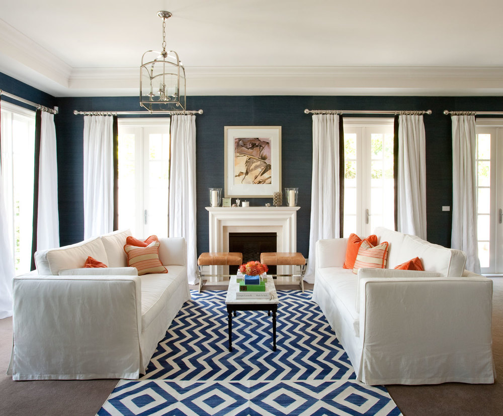 Image of: Navy Living Room Simple