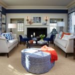 Navy Living Room Small