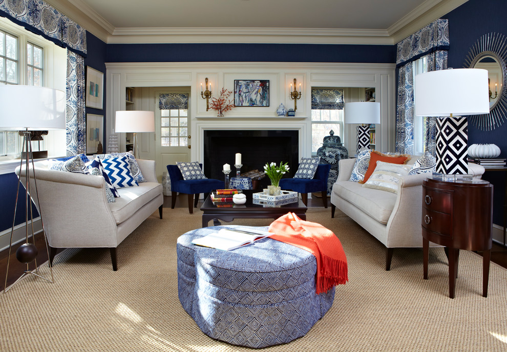 Image of: Navy Living Room Small