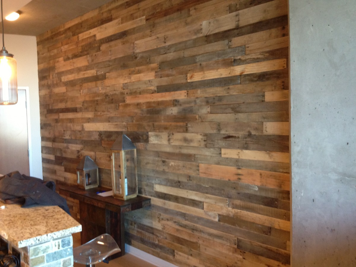 Image of: New Rustic Wood Paneling for Walls