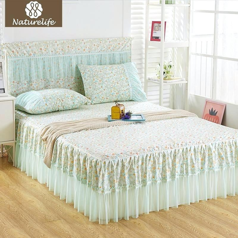 Image of: Nice Lace Bed Skirt