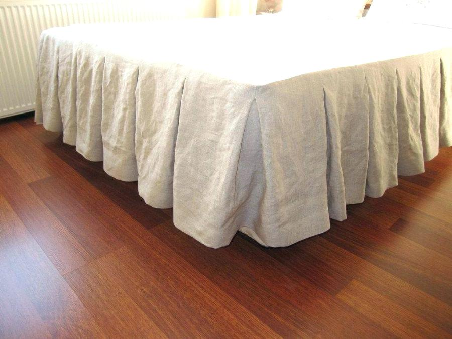 Image of: Oatmeal Tailored Bed Skirt