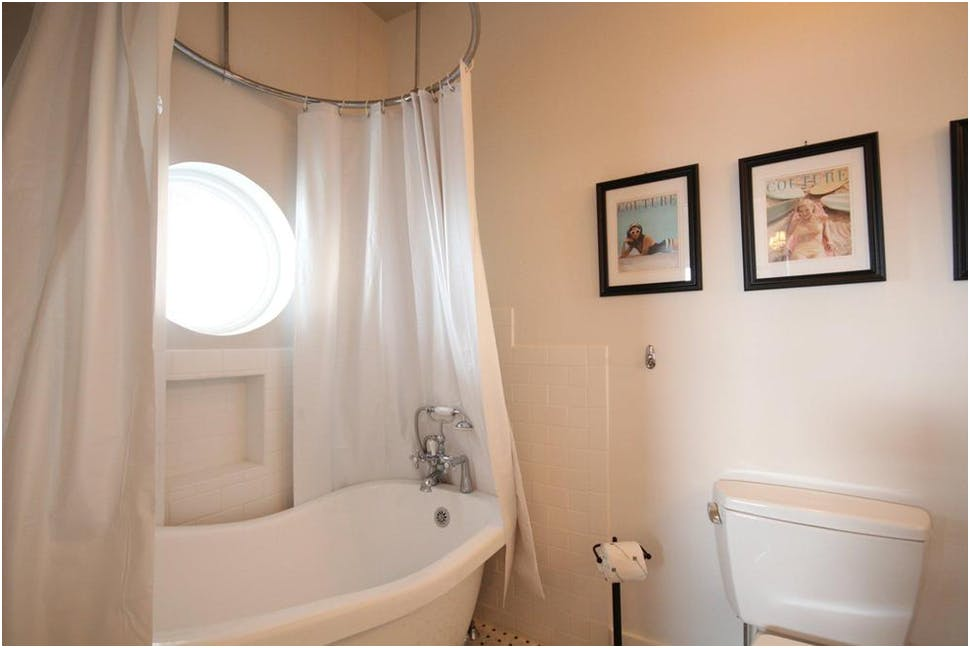 Image of: Oval Shower Curtain Rod Cover