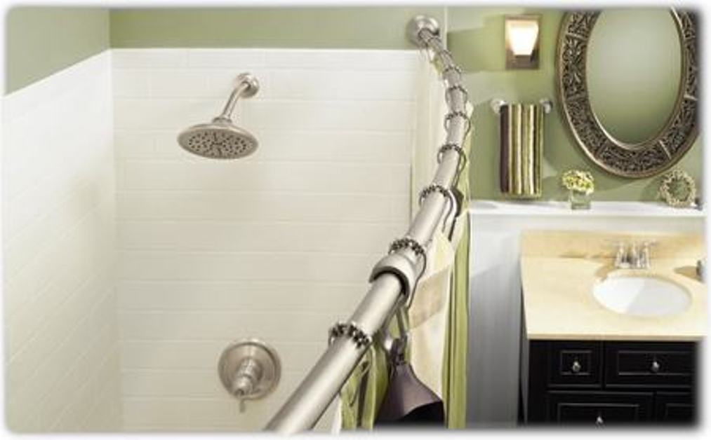 Image of: Oval Shower Curtain Rod Detail
