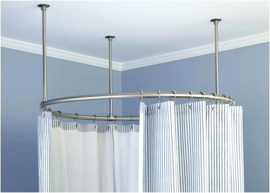 Image of: Oval Shower Curtain Rod Ring
