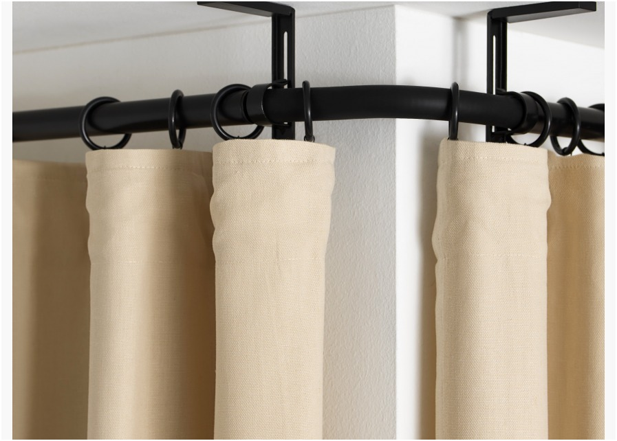 Image of: Oval Shower Curtain Rod Small